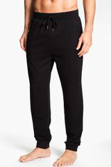Boss Black Cotton Lounge Pants - Lyst