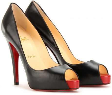 Christian Louboutin Very Prive 120 Peep Toe Pumps in Black - Lyst