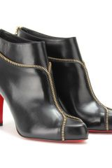 Christian Louboutin Colizip 85 Leather Ankle Boots