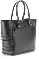 Christian Louboutin Farida Leather Shopping Bag in Black (jet) - Lyst