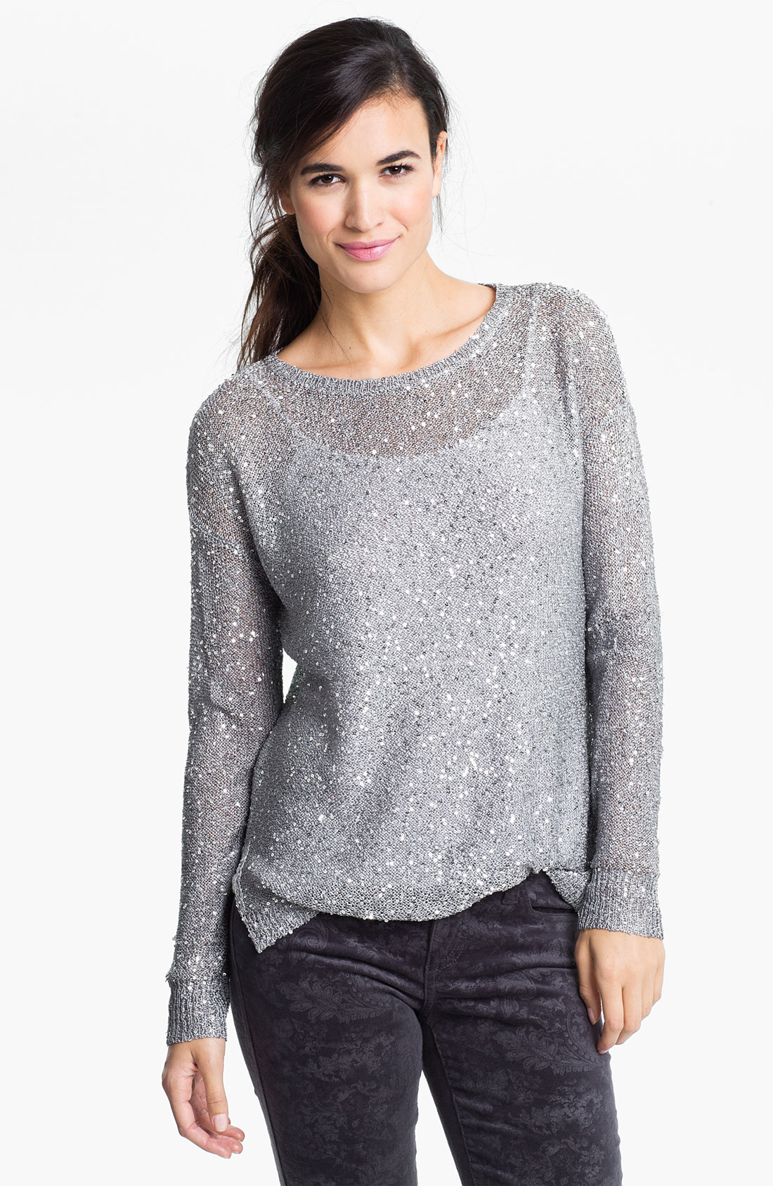 Little Big Girls Long Sleeve Sweater Cardigan Sequin Knit Shrug Outerwear $ 16 Hello Kitty. Girls' Sweater Fleece Active Set with Sequins and Glitter Print. from $ 13 07 Prime. out of 5 stars 9. Moss Rose. Women's Pullover Wrap Poncho with Sequins and Tassels $ .