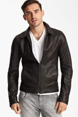 Dolce & Gabbana Leather Biker Jacket - Lyst