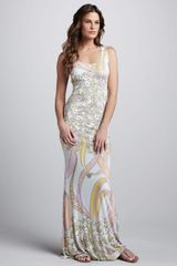 Emilio Pucci Ortensie Coverup Maxi Dress - Lyst