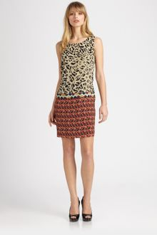 Etro Beaded Silk Dress - Lyst