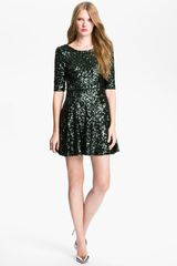 French Connection Ozlem Scoop Back Sequin Fit Flare Dress - Lyst
