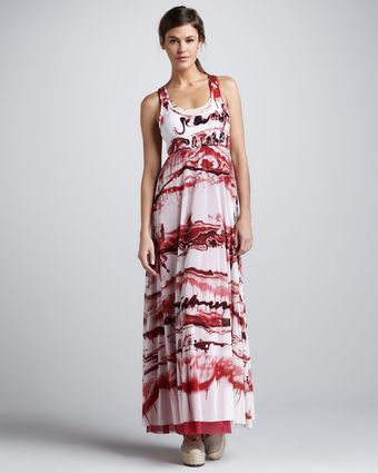 Jean Paul Gaultier Printed Racerback Maxi Dress - Lyst
