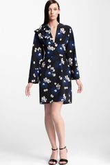 Marni Floral Print Silk Dress - Lyst