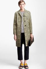 Marni Edition Long Leaf Print Coat - Lyst
