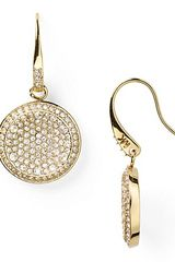 Michael Kors Concave Pave Drop Earrings - Lyst