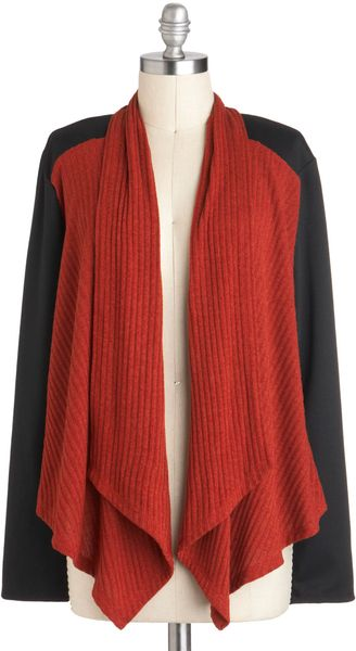 ModCloth Thanks A Vermillion Cardigan - Lyst