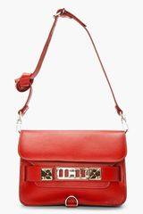 Proenza Schouler Paprika Leather Ps11 Mini Classic in Red - Lyst