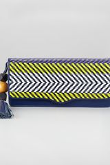 Rebecca Minkoff Tribal Woven Clutch Bag - Lyst