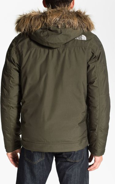 The North Face Yellowband Waterproof Parka In Green For
