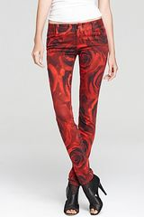 Alice + Olivia Jeans Royal Rose Print - Lyst