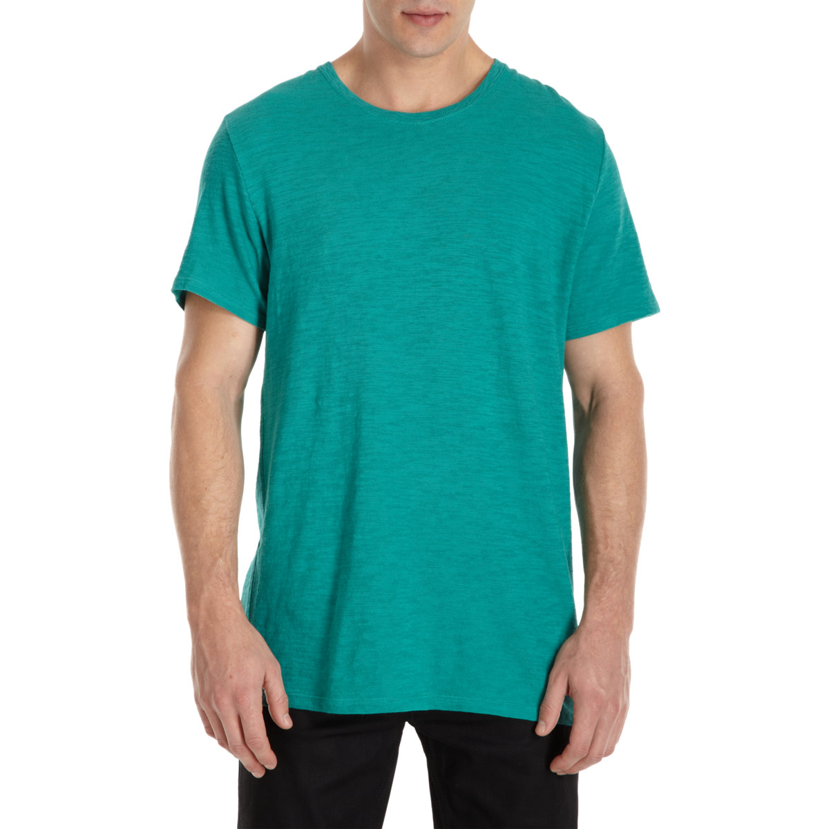 Lyst atm slub crewneck tee in green for men for Atm tee shirts barneys