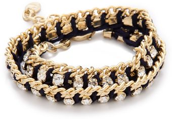 Club Monaco Crystal Thread Bracelet - Lyst