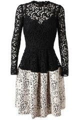 Dolce & Gabbana Bicolor Macramé Lace Dress with Slip