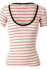 Edith A. Miller Striped Cotton Knit Top - Lyst