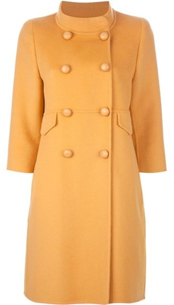 Ermanno Scervino Princess Coat in Beige (camel) - Lyst