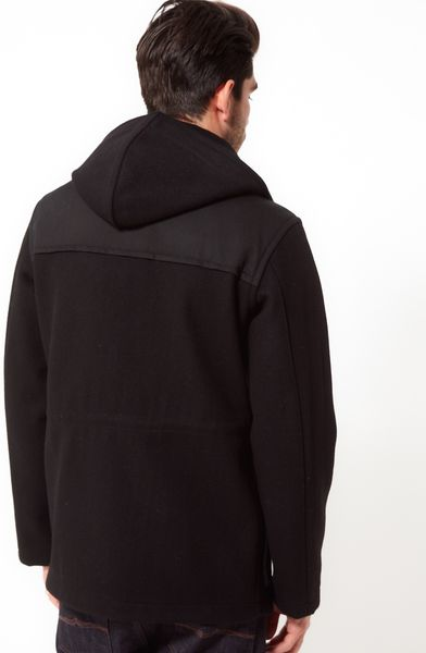 Gloverall Made In England Donkey Jacket In Black For Men