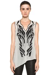 Helmut Lang Lyra Applique Top in Plaster - Lyst