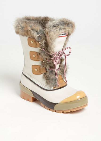 Hunter Cathie Boot in White