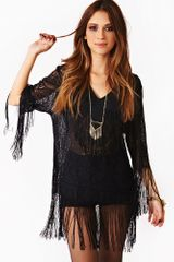 Nasty Gal Fringe Element Mini Dress - Lyst