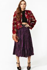 Nasty Gal Metallic Gypsy Skirt - Lyst