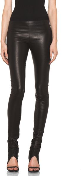 Neil Barrett Leather Legging in Black - Lyst