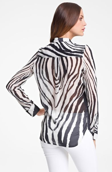 Zebra Print Blouses Sale 72