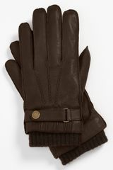 Ted Baker Leather Gloves - Lyst