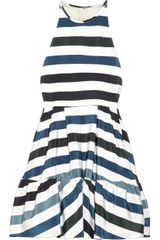 Camilla & Marc Bastille Striped Silkcrepe Dress - Lyst
