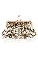Christian Louboutin Mini Loubi Lula Satin and Lace Frame Clutch - Lyst