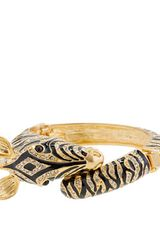 J.Crew Enameled Zebra Bangle - Lyst