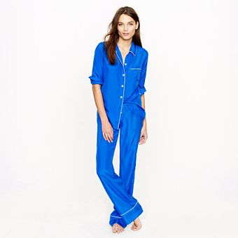 J.Crew Collection Silk Pajama Shirt - Lyst