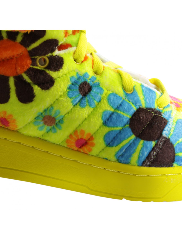 3431ff1534df Jeremy Scott For Adidas Bear High Top Sneaker Green in Green for Men ...