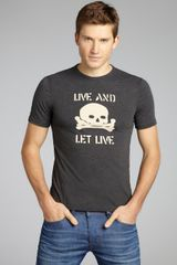 John Varvatos Live and Let Live Skull Graphic Tshirt - Lyst