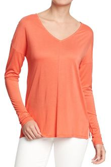 Old Navy Drop Shoulder V-Neck Top - Lyst