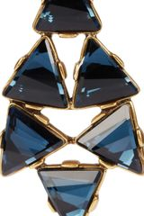 Oscar De La Renta 24karat Gold Plated Swarovski Crystal Clip Earrings in Gold - Lyst