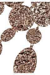 Oscar De La Renta Hammered Rose Gold Plated Multistrand Necklace in Pink (rose) - Lyst