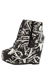 Modcloth True To Platform Bootie in Abstract Art in Black - Lyst