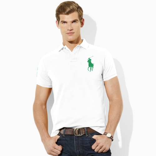 Polo ralph lauren Tall Custom Fit Big Pony Polo in White for Men (white green