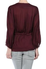 Isabel Marant Blouse in Red (noir) - Lyst
