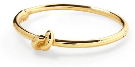 Kate Spade Sailors Knot Bangle in Gold - Lyst