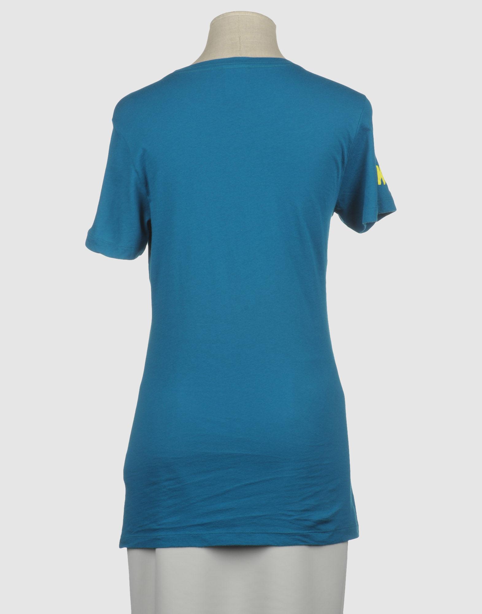 Nike short sleeve t shirt in blue grey lyst for Nike short sleeve shirt