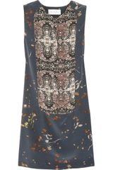 A.L.C. Sera Tux Printed Silk Dress - Lyst
