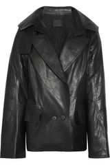 Alexander Wang Quilted Leather Peacoat - Lyst