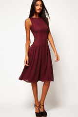 ASOS Collection  Midi Dress in Crochet Lace - Lyst