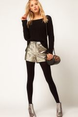 ASOS Collection Asos Knicker Short in Gold Texture - Lyst