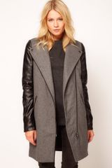 ASOS Collection PU Biker Coat - Lyst